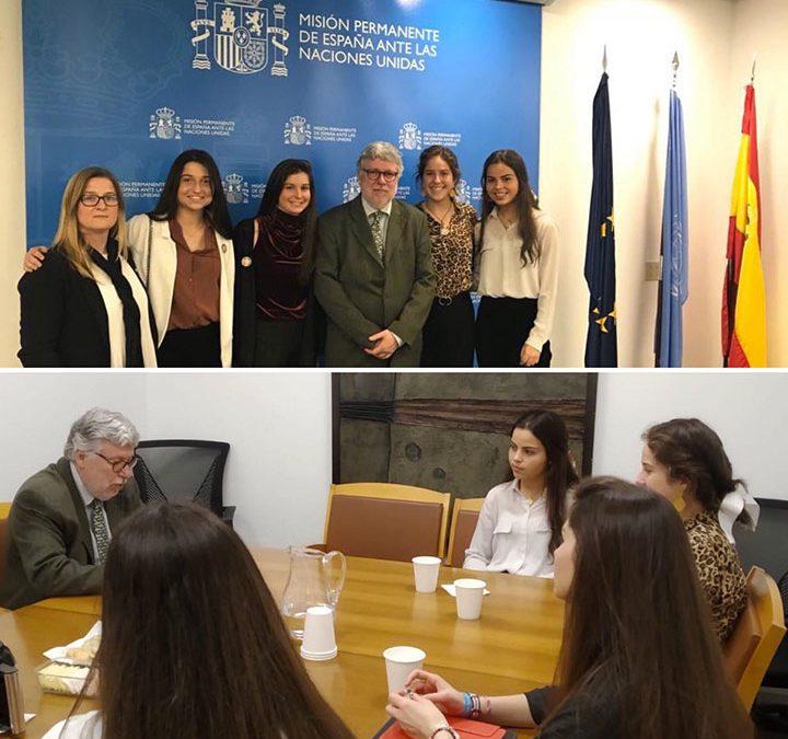 Alumnas de Ayalde intervienen en una cumbre en la sede de las Naciones Unidas en Nueva York
