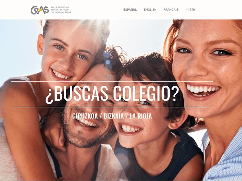 El Grupo Educativo COAS lanza una web para facilitar la acogida de familias internacionales