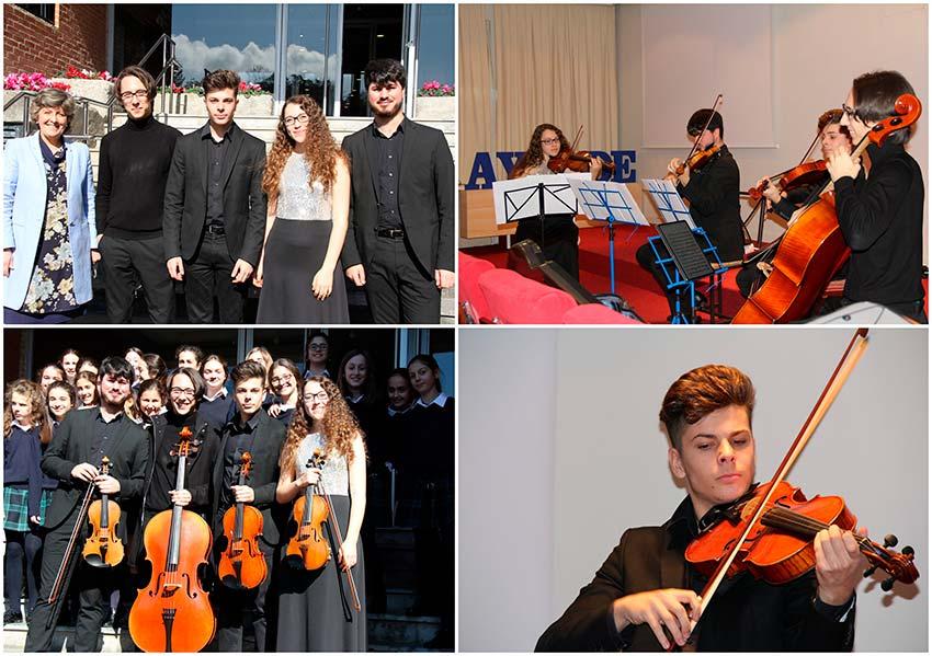 Un cuarteto de cuerda celebra un Concierto de Cámara en Ayalde