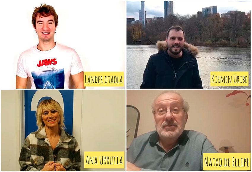 Varios famosos agradecen nuestro trabajo en Euskaraldia