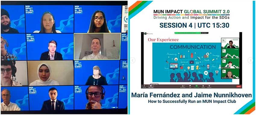 Dos alumnos de Ayalde-Munabe, entre los ponentes de la Cumbre Mundial 2.0 de MUN Impact