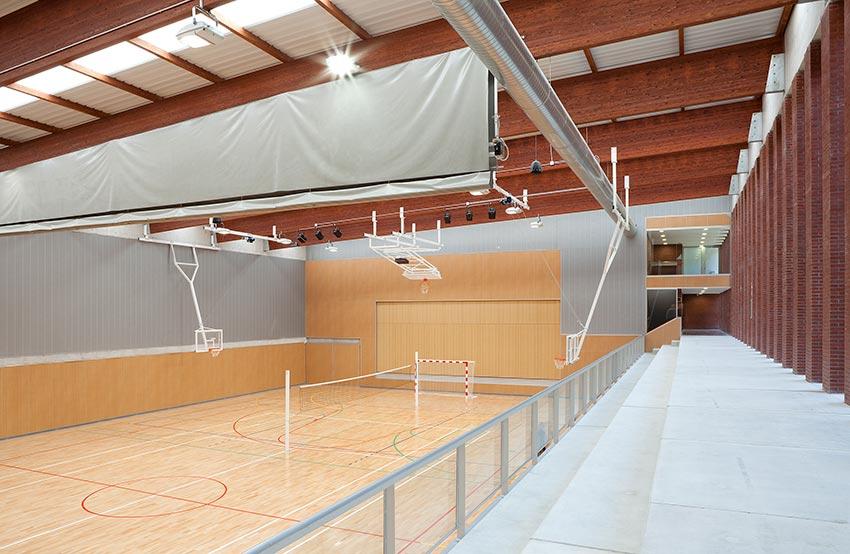 Polideportivo del Colegio Ayalde, un espacio amplio, agradable y bien cuidado