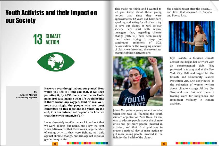 """La alumna Loreto Marsal publica un artículo en """"Community"""", la revista mensual de MUN Impact"""
