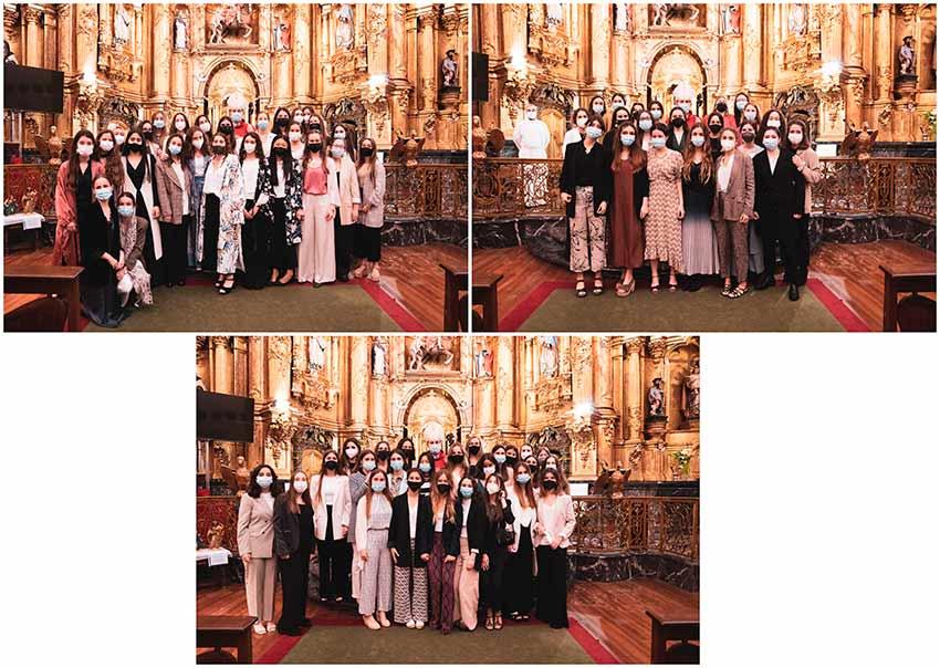 Las alumnas de 2º de Bachillerato reciben el sacramento de la Confirmación