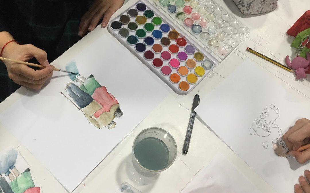 Alumnas de 1º ESO participan en el concurso nacional Dibujos por la Vida